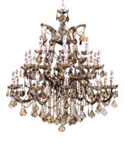 Golden Teak 26-Light Chandelier