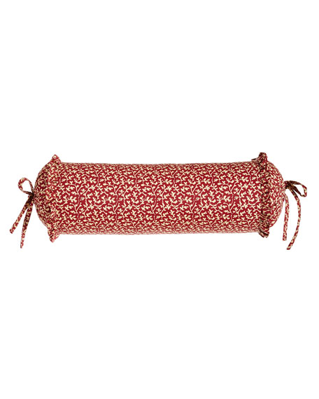 """Sherry Kline Home French Country Neck Roll Pillow, 18"""" x 6"""""""