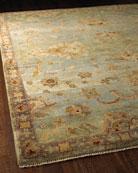 Blue Small Border Rug, 8' x 10'