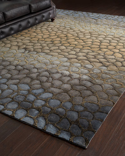 Jaded Pebbles Rug, 8' x 11'
