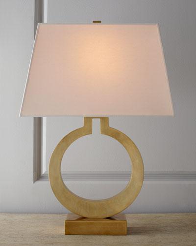 Quick look visual comfort · brass ring lamp
