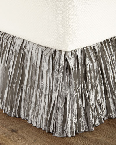 Queen Penthouse Suite Crushed Silk Dust Skirt