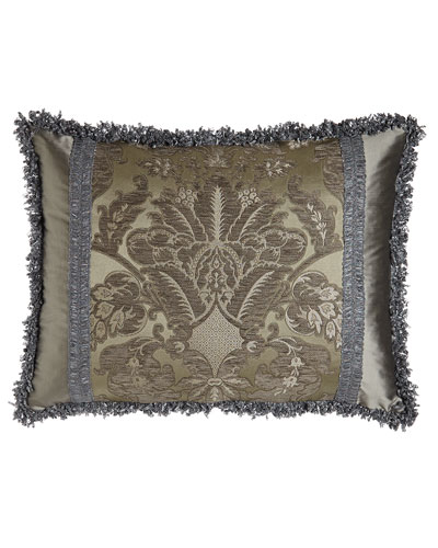 King Penthouse Suite Damask Sham with Silk Sides