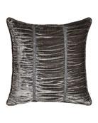 Penthouse Suite European Shirred Velvet Sham