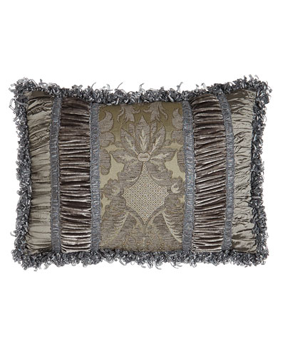 Penthouse Suite Pieced Pillow with Damask Center, 14