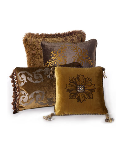 Silk Decorative Pillow Neiman Marcus