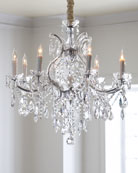 Crystorama Crystal Drop Chandeliers & Cord Cover &