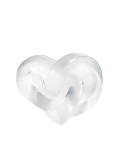 Clear Heart Paperweight