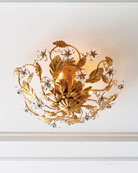 Crystorama Crystal Flower Flush-Mount Light Fixture