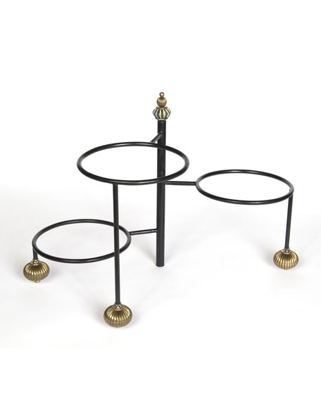 MacKenzie-Childs Large Courtly Check 3-Tier Stand