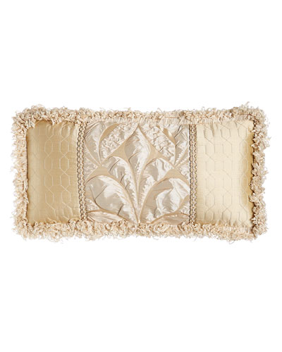 Neutral Modern Pieced Box Pillow, 22