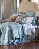 Lili Alessandra Blue/Silver Jackie Bedding & Matching Items