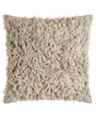 "Silver Coco Pillow, 20""Sq."