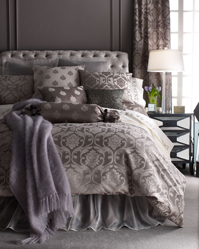 Queen Charleston Damask Duvet Cover