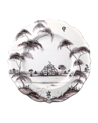 Country Estate Conservatory Dessert Plates, Set of 4