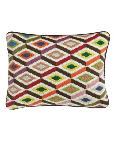 Bargello Diamond Pillow