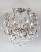 Mini Chandelier Flush-Mount Light Fixture