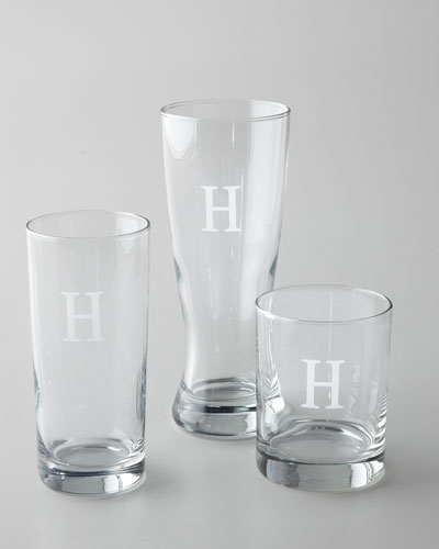 Monogrammed Double Old-Fashioneds, Set of 4