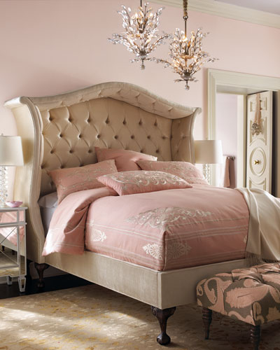 Champagne Peekaboo King Bed