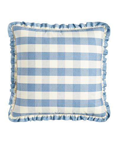 Checked Country Manor European Sham