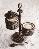 G G Collection Salt Cellars on Stand