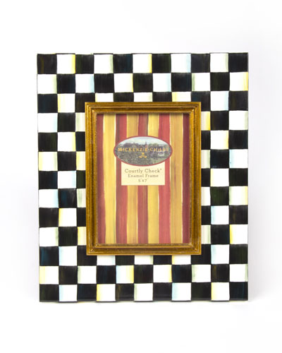 Large Courtly Check Photo Frame