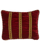 "Bohemian Rhapsody Shirred Panne Velvet Pillow, 12"" x 16"""