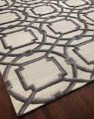 Gray Abstract Rug, 6' x 9'