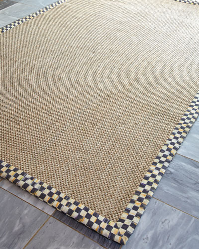 Courtly Check Sisal Rug, 8' x 10'