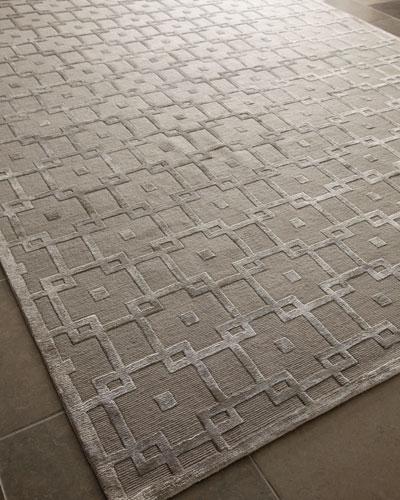 Silver Blocks Rug, 4' x 6'