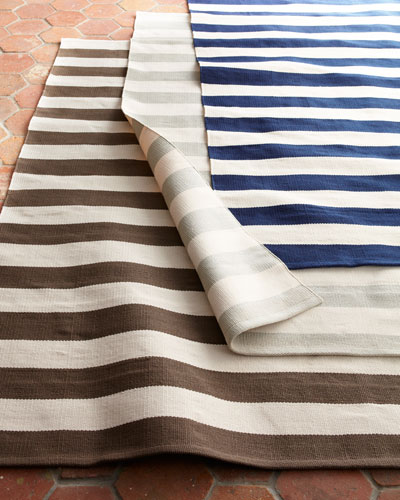 Seaside Stripe Outdoor Runner, 2'5