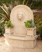 Lion-Head Wall Fountain