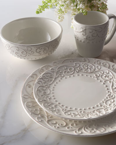 Neiman_marcus 16 - piece Scroll Dinnerware Service