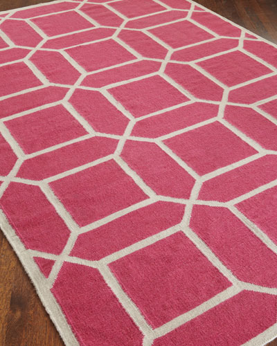 Octagonal Maze Flatweave Rug, 11'6