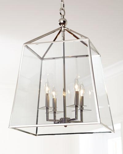 Square 4-Light Glass Lantern