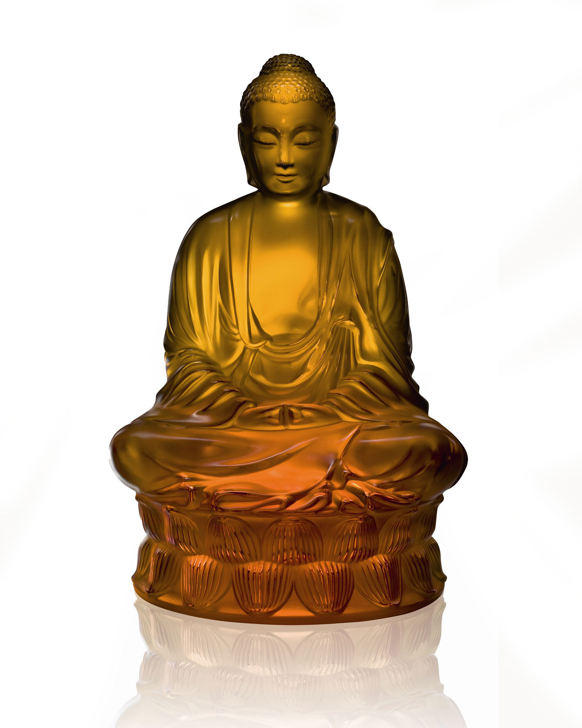 Lalique Clothing AMBER BUDDHA FIGURE