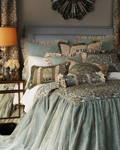 Roma Pieced Pillow with Velvet Corners, 22