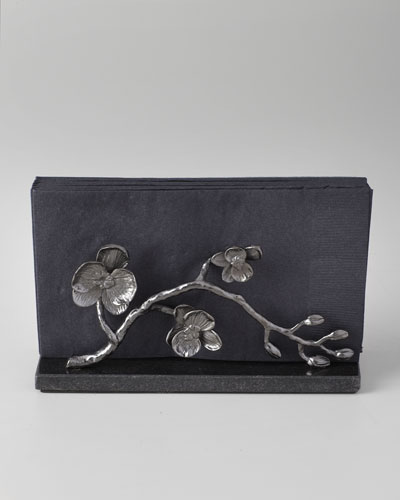 Black Orchid Vertical Napkin Holder