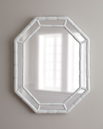 White Octagonal Mirror