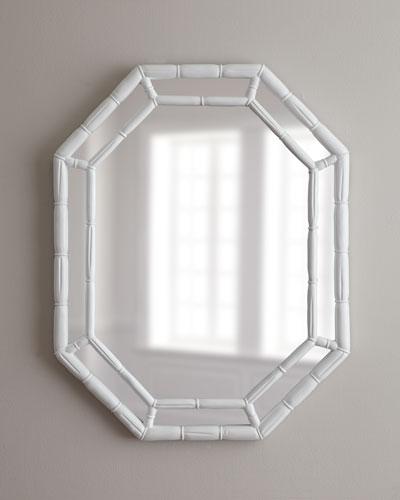 White Octagonal Mirror