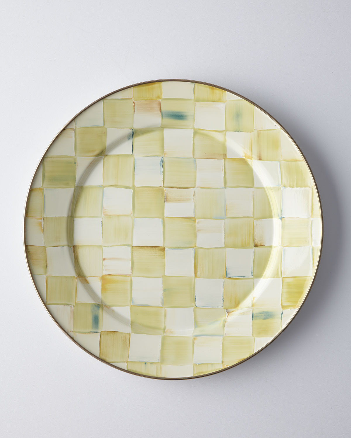 Parchment Check Dinner Plate