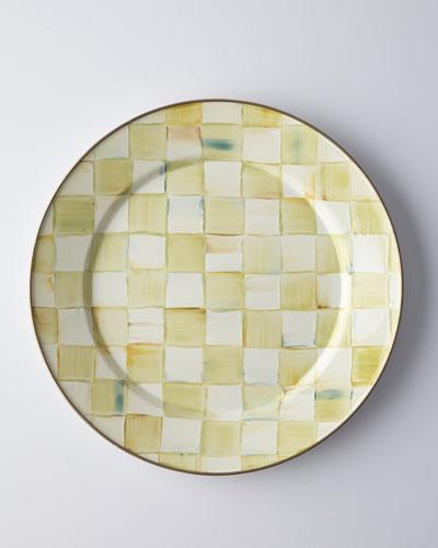 Parchment Check Salad Plate