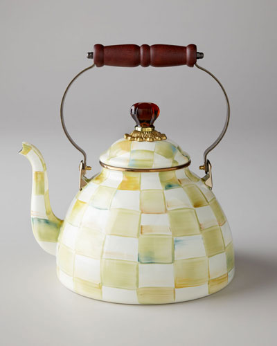 Parchment Check 2-Quart Tea Kettle