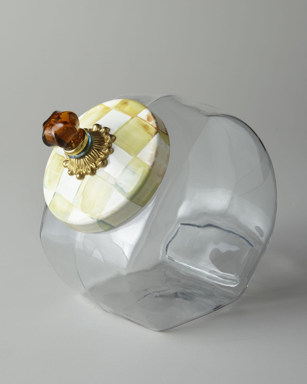 Parchment Check Cookie Jar