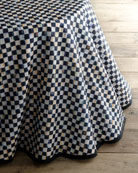 MacKenzie-Childs Courtly Check Round Table Skirt