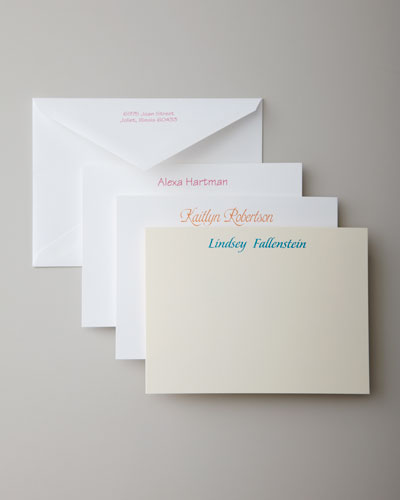 25 Casual Correspondence Cards with Plain Envelopes