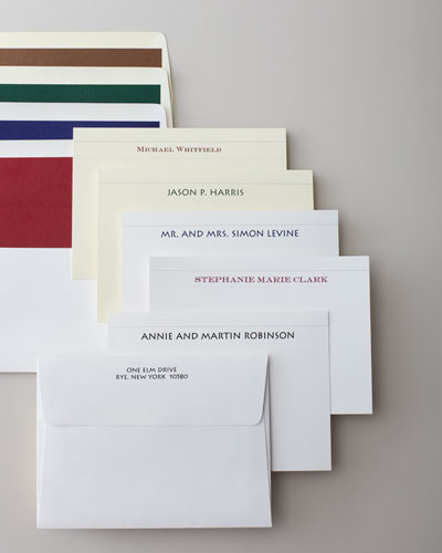 50 Camden Cards with Personalized Unlined Envelopes
