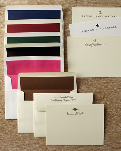 50 Motif Correspondence Cards with Plain Unlined Envelopes