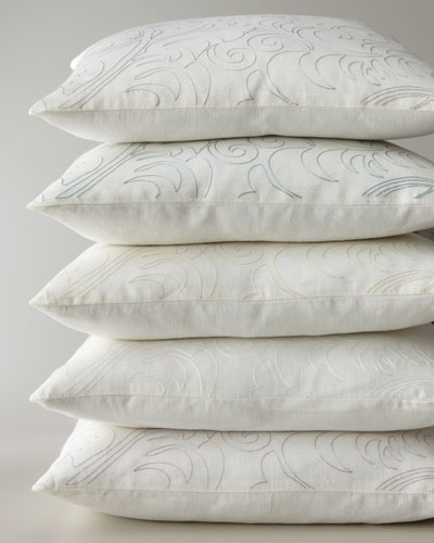 Megan Pillow with Single-Color Embroidery, 20