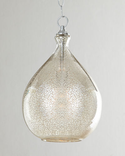 Mercury-Glass 1-Light Pendant